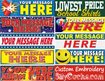 Some Sample Banners That We Can Make For You