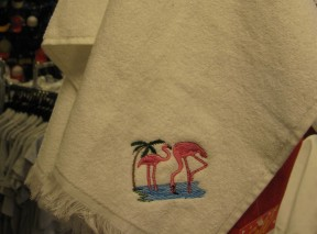 Flamingo Golf Towel